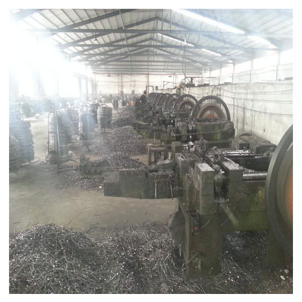 Concrete steel nail factory