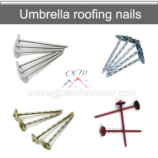 Umbrella Roofing nail